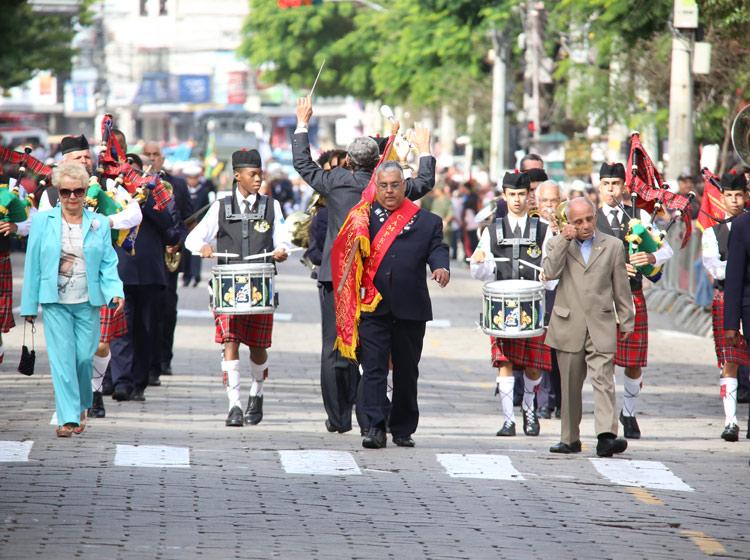 Desfile de aniversário de Nova Friburgo de 2016 (Foto: Arquivo AVS)