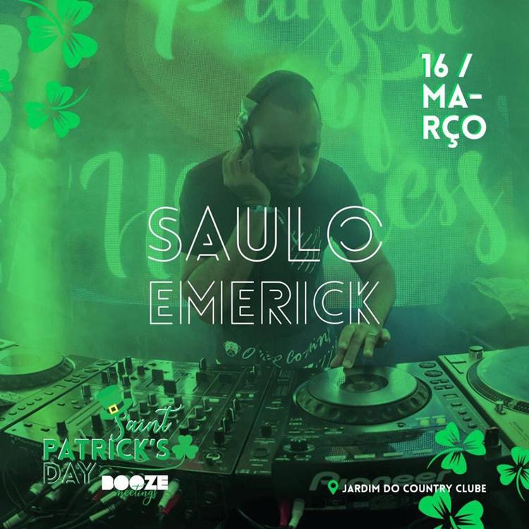 DJ Saulo EMK abre a festa do St. Patrick Day no Country Clube (Foto: Divulgação)