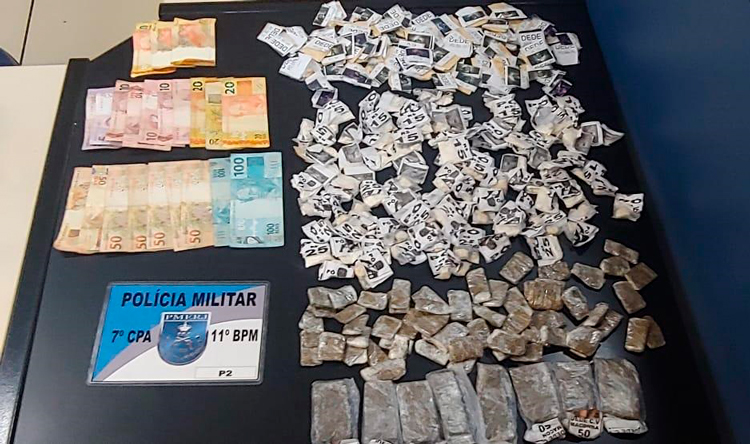 Dupla é detida pela P2 no Alto do Floresta com cocaína e maconha
