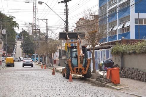 A obra na General Osório (Foto: Henrique Pinheiro)