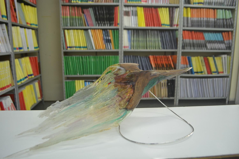 Uma das peças expostas (Fotos: Henrique Pinheiro)