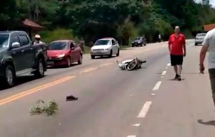 Motociclista morre após colisão na RJ-130