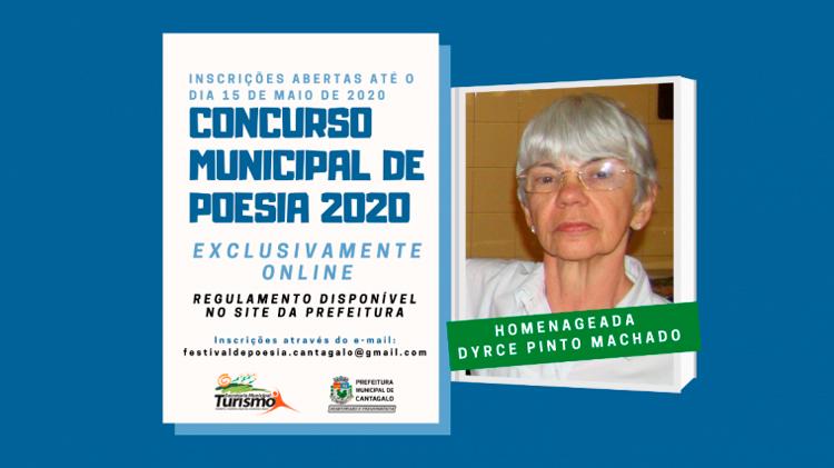 Cantagalo inscreve para concurso de poesia online em homenagem à Dyrce Machado