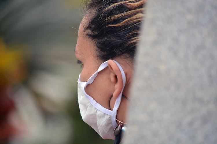 Uso de máscara em Nova Friburgo (Foto: Henrique Pinheiro)
