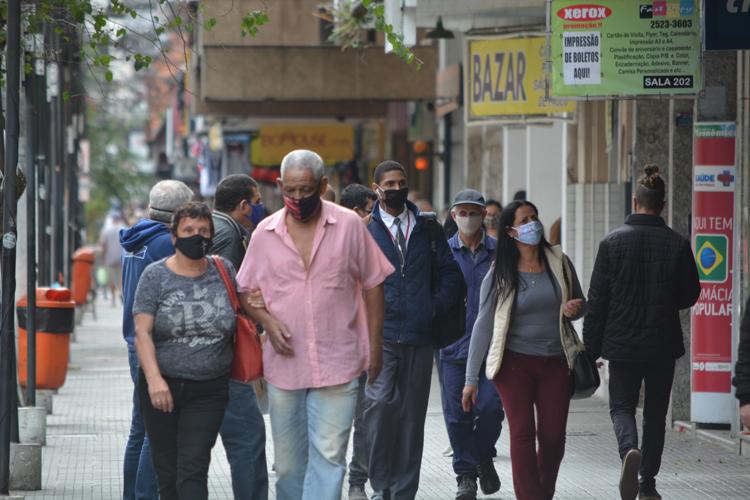 Movimento nas ruas de Friburgo  (Arquivo AVS/ Henrique Pinheiro)