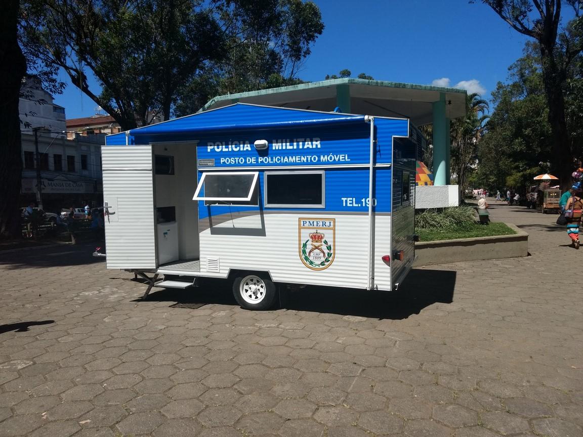 O trailer que existia na Praça Getúlio Vargas (Foto: Guilherme Alt)