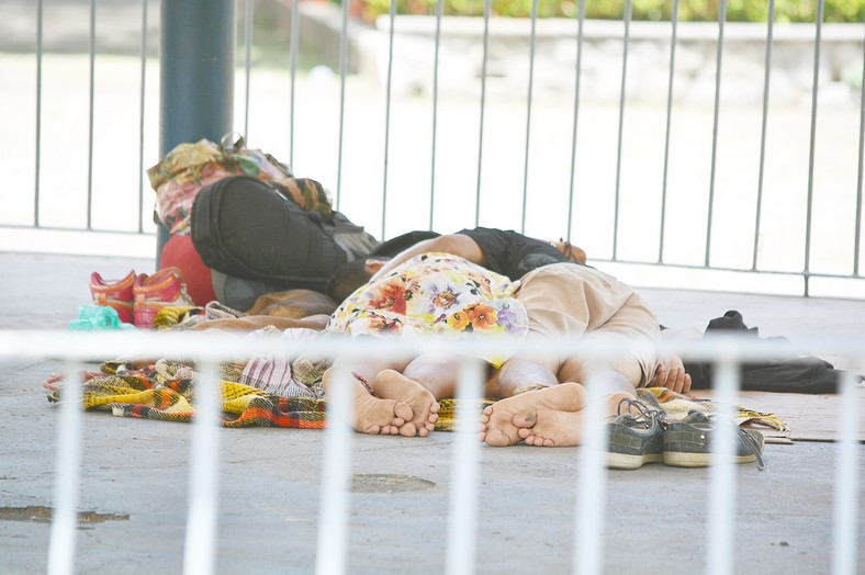 Moradores de rua em Friburgo: problema crônico (Arquivo AVS)