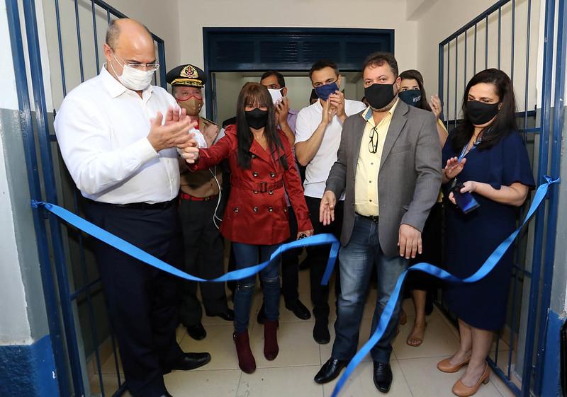 A inauguração do Colégio Estadual 2º Tenente BM Sérgio Rodrigues da Silva, em Cordeiro (Foto: Carlos Magno)