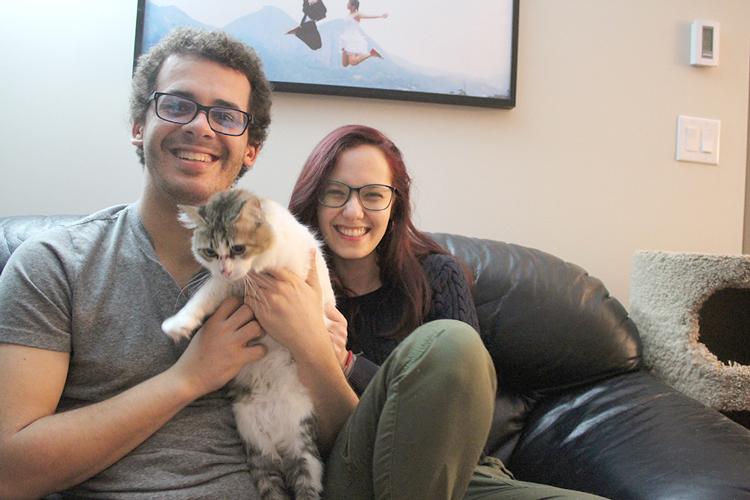 Vivian, Damien e Margot: vencendo a esporotricose (Foto: Álbum pessoal)