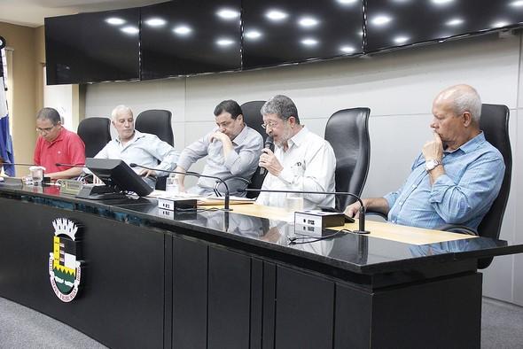 Marcelo Braune fala durante a audiência (Foto: Divulgação/ Secom)
