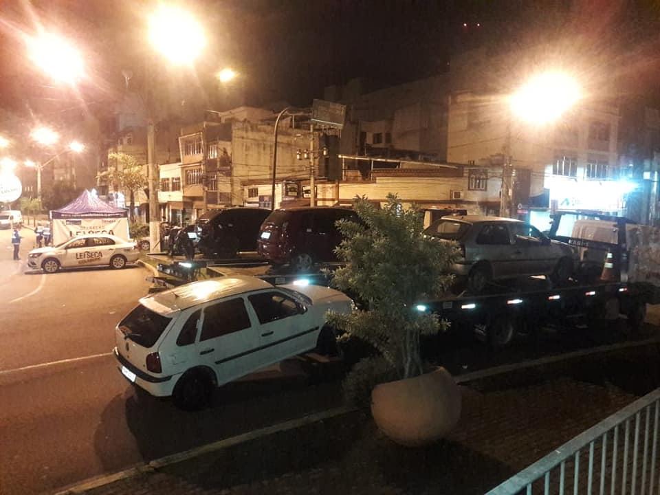 A blitz no Paissandu no último sábado (Foto de leitor)