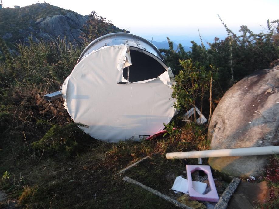 Desordem no Pico do Caledônia, pelas lentes do biólogo Maycon Saviole (Fotos: arquivo pessoal Maycon Saviole)