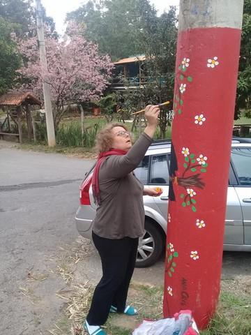 Ana Cris Souza em ação: