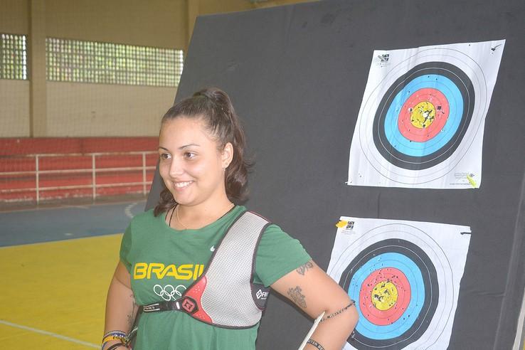 Françoise Villeneuve no seu primeiro treino patrocinada pela prefeitura (Fotos: Henrique Pinheiro)