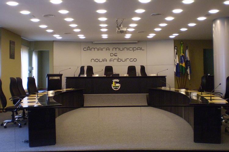 O plenário da Câmara Municipal de Nova Friburgo (Foto: Henrique Pinheiro)
