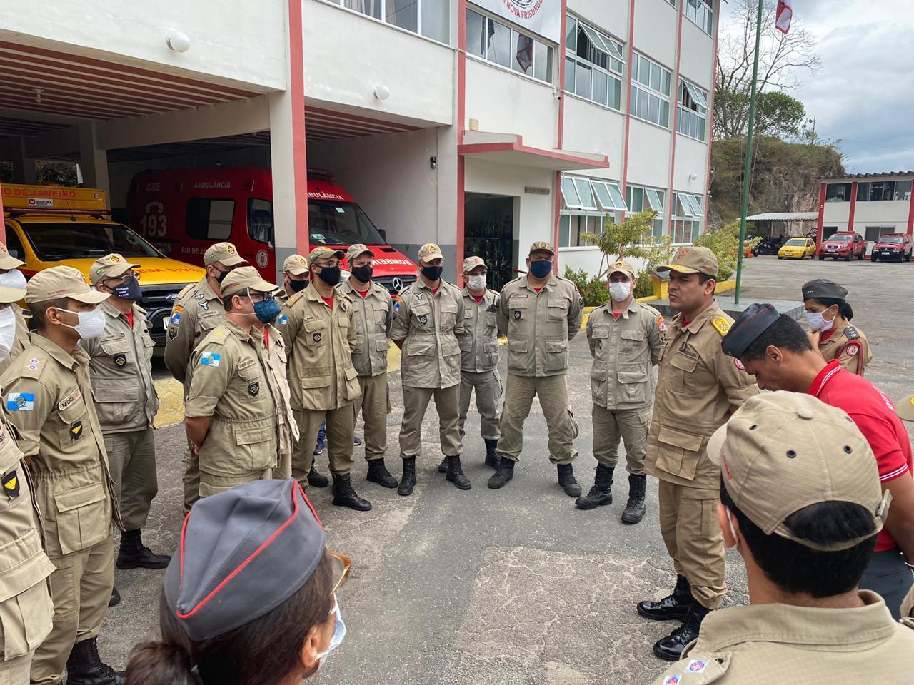 A visita do novo comandante ao 6º GBM (Foto 6º GBM)
