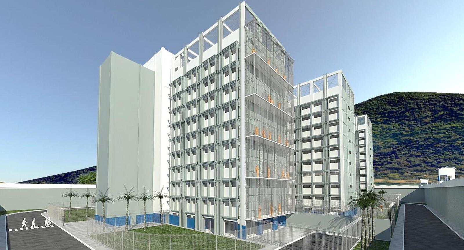 O projeto do Conjunto Penal Vertical do governo do estado (Fotos: Divulgação)