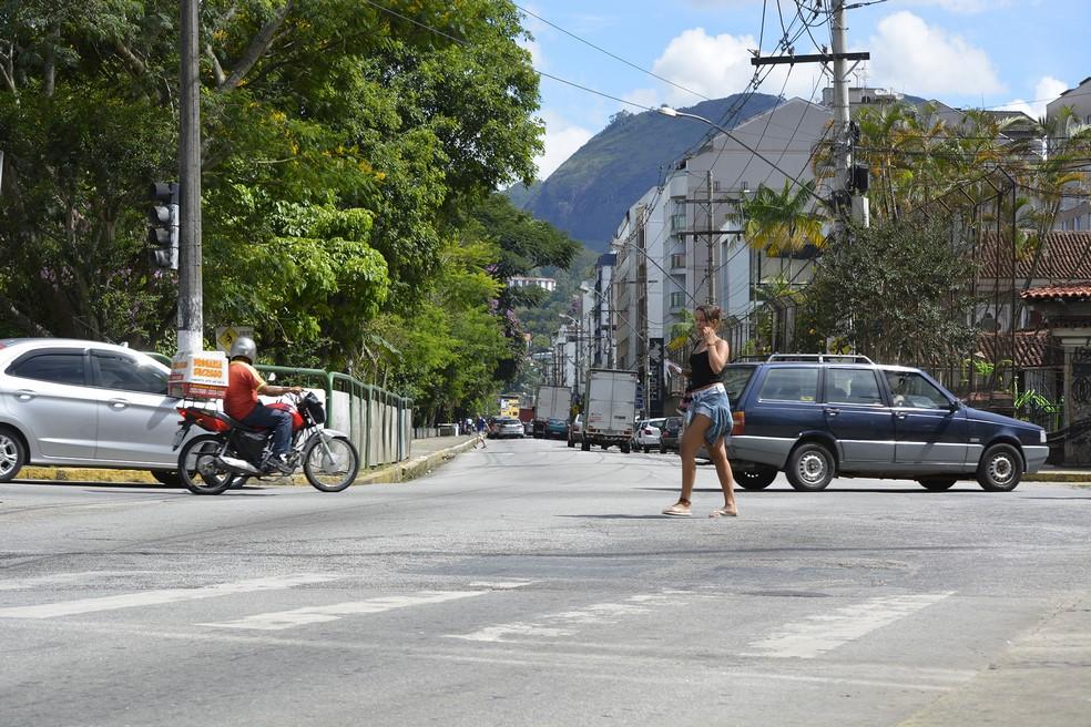 Delivery em Friburgo em um dia normal (Arquivo AVS/ Henrique Pinheiro)