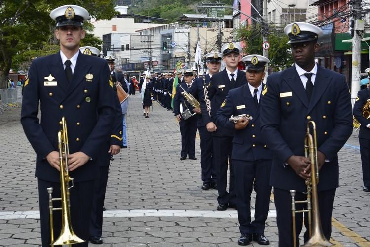 A Banda Marcial do Corpo de Fuzileiros Navais no ano passado (Arquivo AVS)