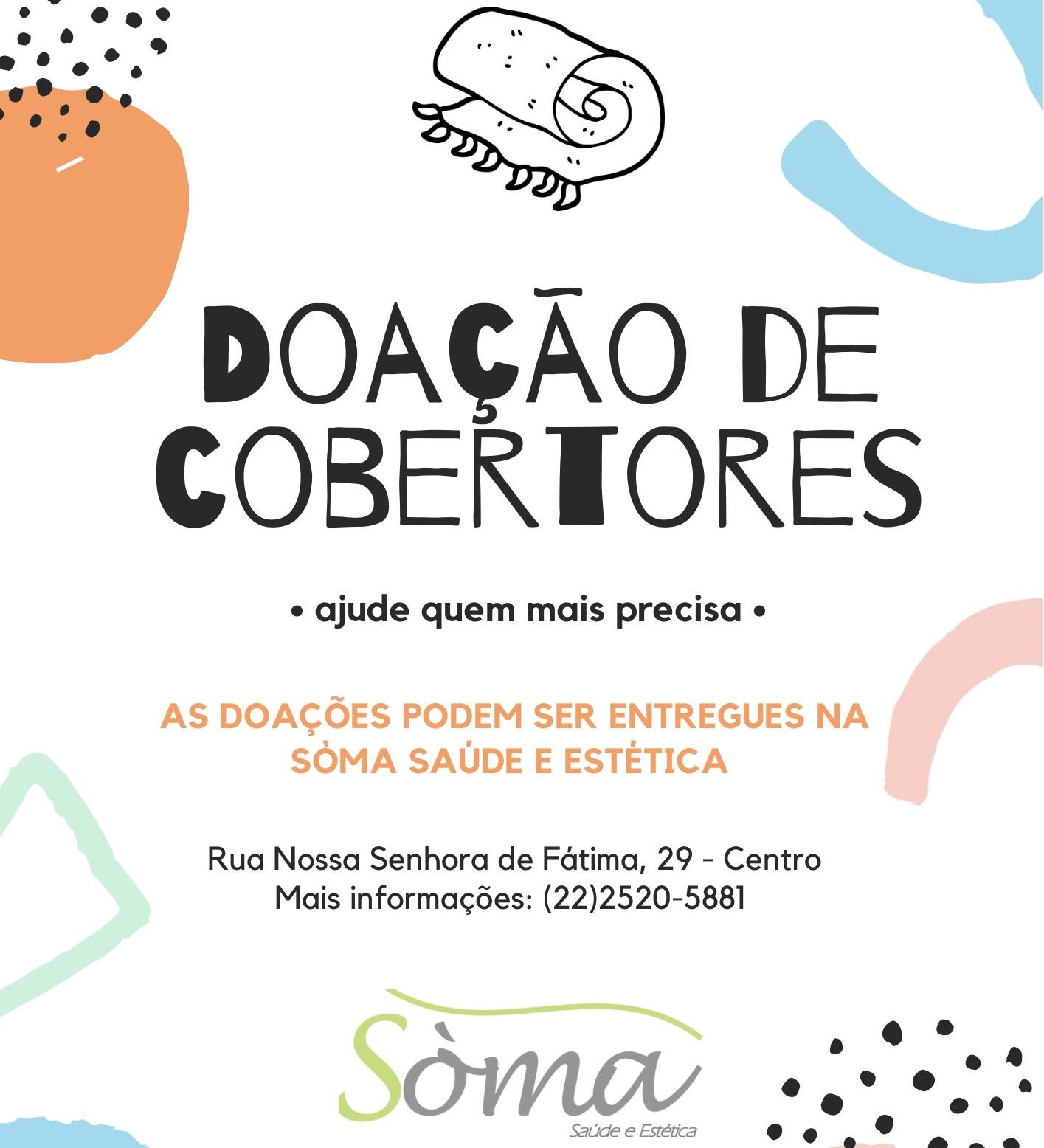Sòma promove campanha para arrecadação de cobertores