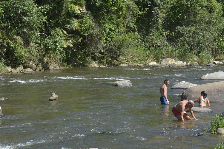 O Encontro dos Rios é uma das áreas de lazer mais procuradas  de Friburgo (Arquivo AVS)