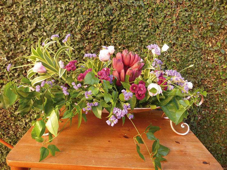 Exemplo de arranjo das Floristas do Amparo (Foto: Camila Porto)