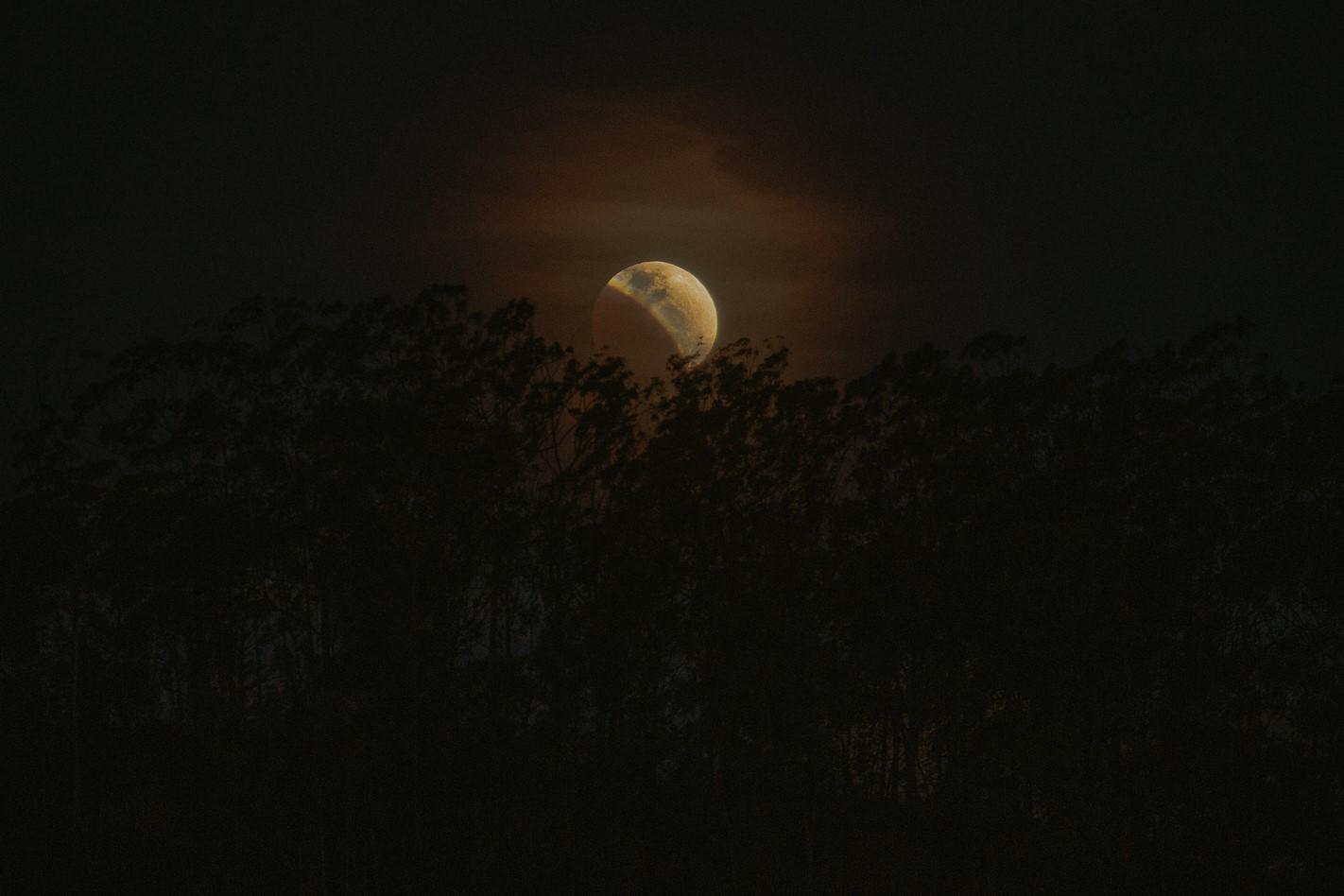 A lua eclipsada, fotografa por João Luccas de Oliveira em Nova Friburgo