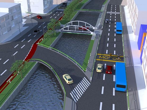 Ilustração de um dos muitos projetos apresentados pela prefeitura