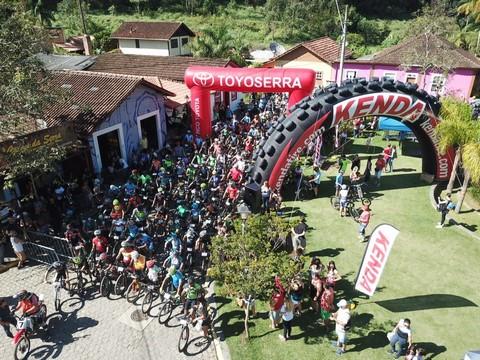 Prova foi um verdadeiro sucesso, reunindo centenas de ciclistas em São Pedro da Serra
