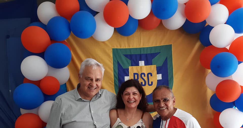 Os fundadores Walter e Josane estiveram presentes à festa de confraternização, com Ari Rapozo