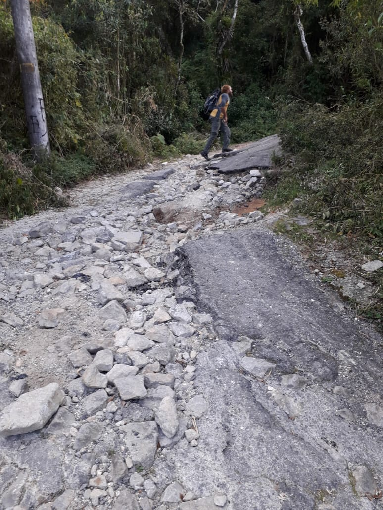 O estado da trilha principal (Foto de leitora)