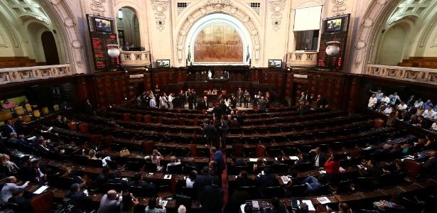 O plenário da Alerj: só um deputado ligado à Região Serrana na próxima legislatura