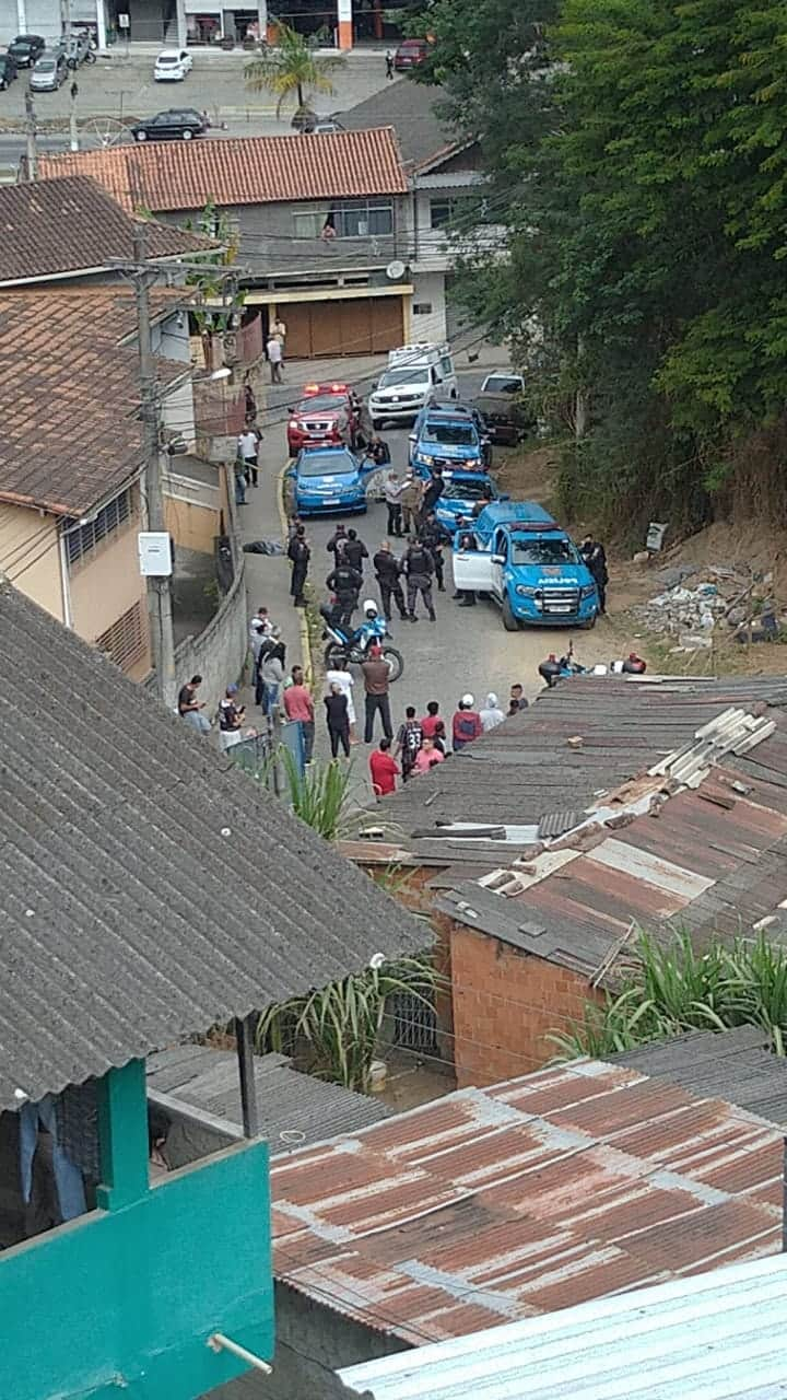 O local do crime (Foto de leitor)