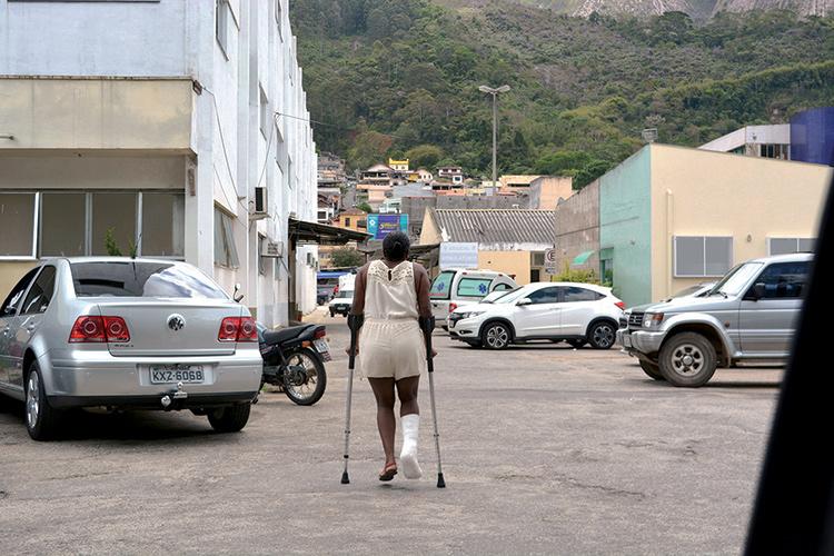 Paciente no Raul Sertã: retrato da crise no setor (Foto: Arquivo AVS/ Henrique Pinheiro)