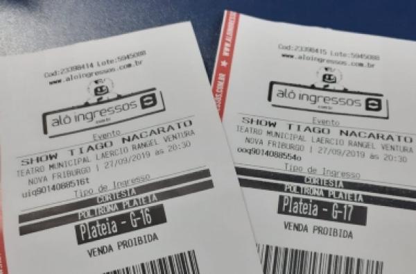 As entradas para o show de Tiago Nacarato sorteadas por A VOZ DA SERRA (Arquivo AVS)