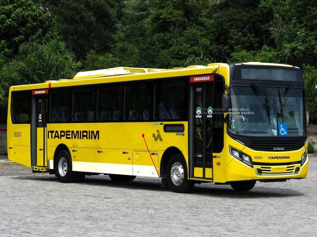 Um ônibus padrão, urbano, do Grupo Itapemirim (Reprodução da web)