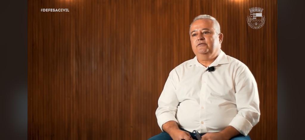 O coordenador da Defesa Civil de Nova Friburgo, major Evi Gomes da Silva (Arquivo AVS)