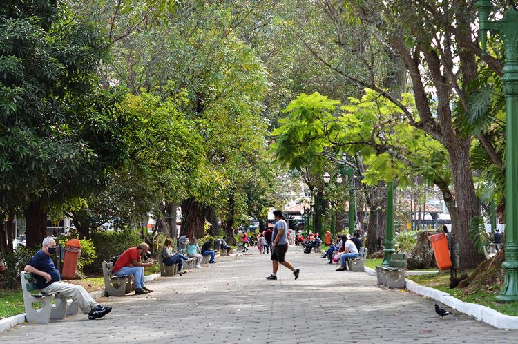 A Praça Getúlio Vargas (Foto: Henrique Pinheiro)