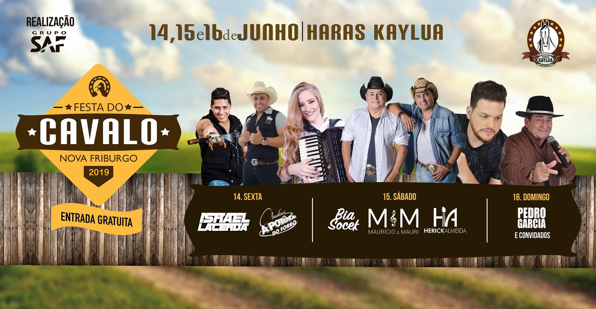 Fim de semana com Mega Festa do Cavalo, Rock do Agasalho e outras atrações