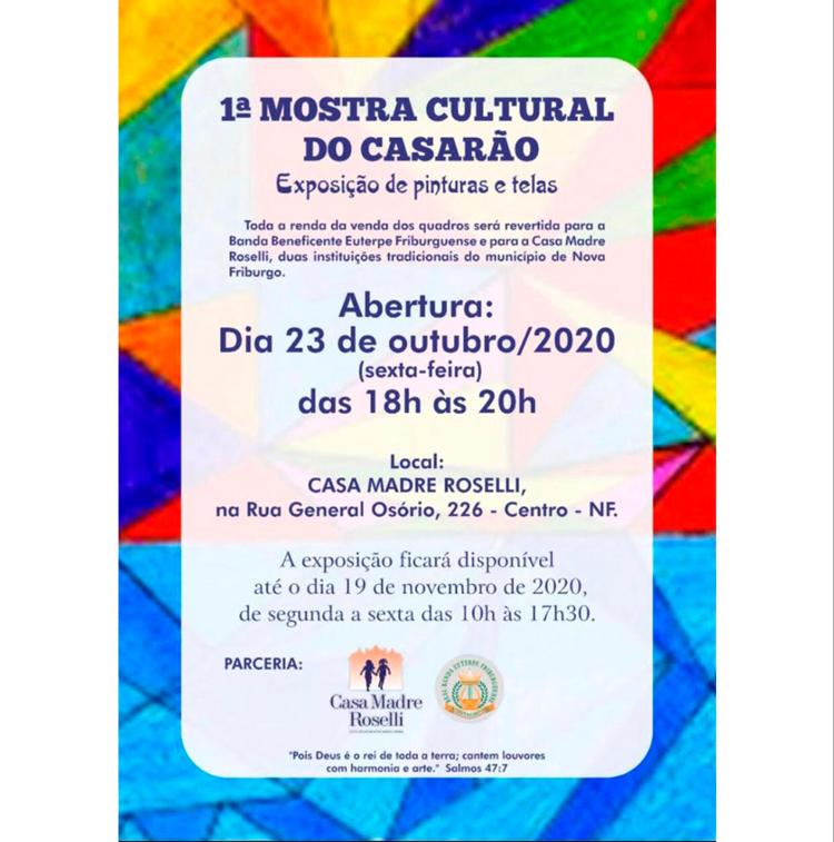Euterpe e Casa Madre Roselli promovem a 1ª Mostra Cultural do Casarão