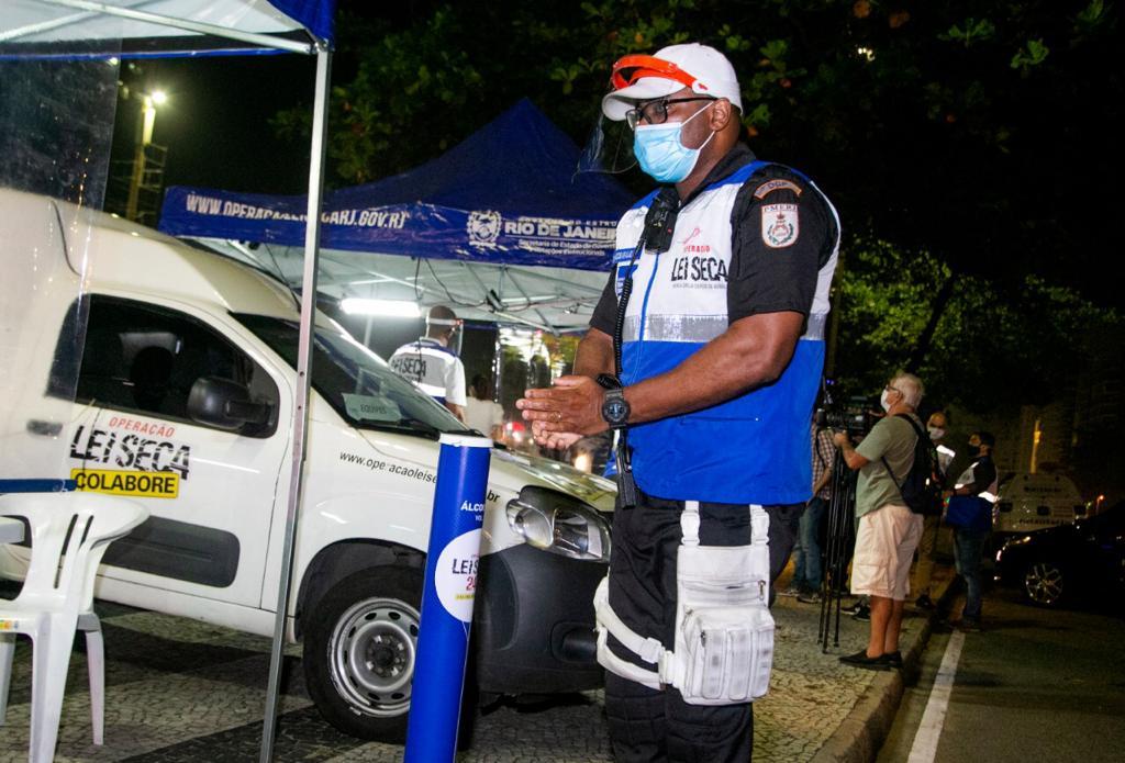 Blitz da Lei Seca agora com protocolos sanitários (Divulgação)