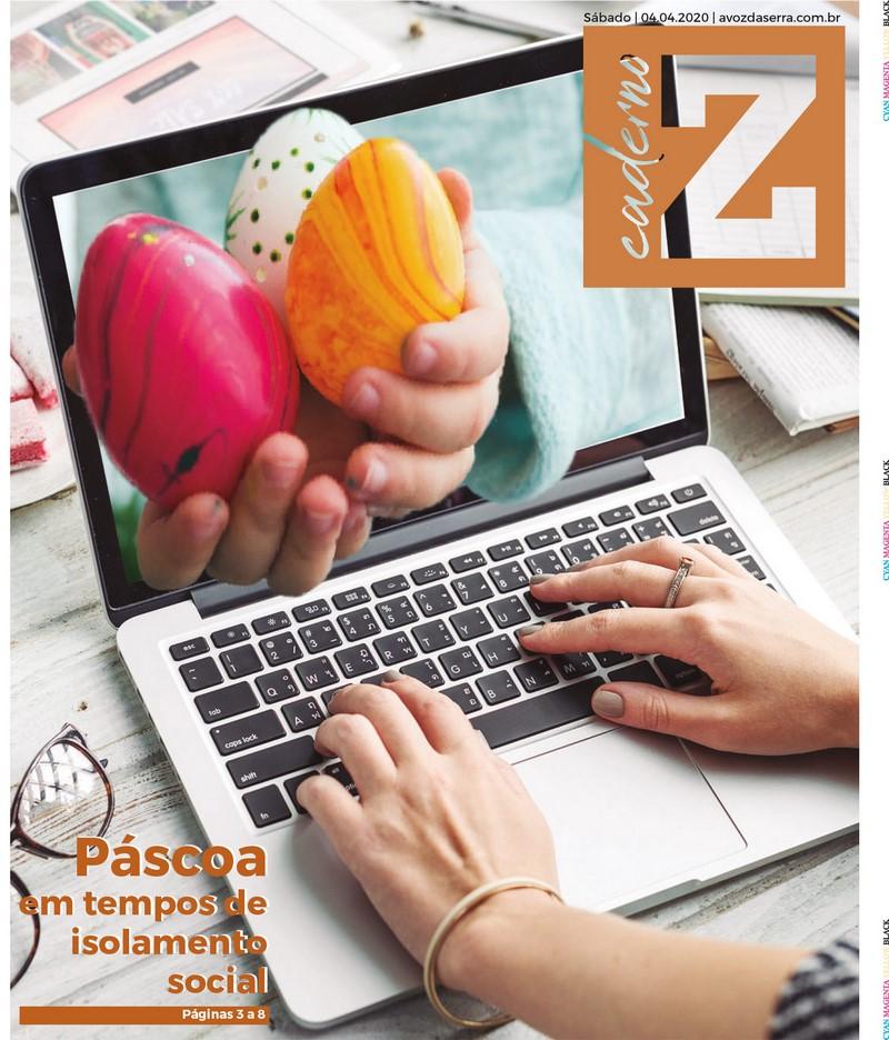 A capa do Caderno Z deste fim de semana