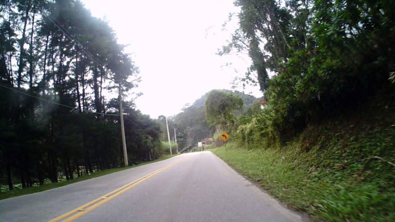 A RJ-116, no trecho de serra entre Cachoeiras e Friburgo (Arquivo AVS)