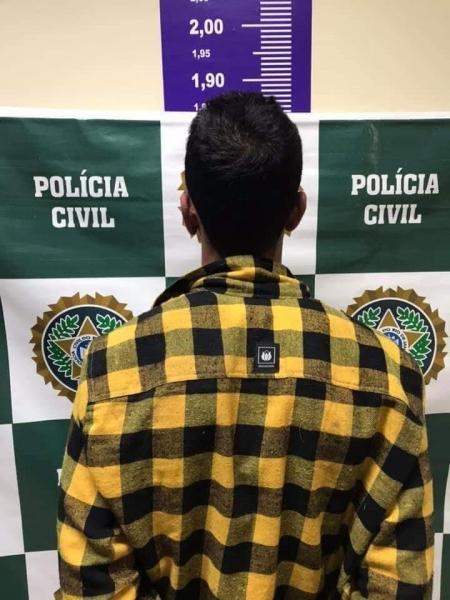 Rodrigo ao ser preso após o duplo feminicídio (Arquivo AVS)