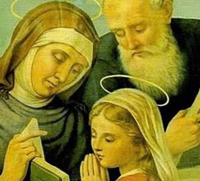 Sant'Ana e São Joaquim, pais de Maria, mãe de Jesus