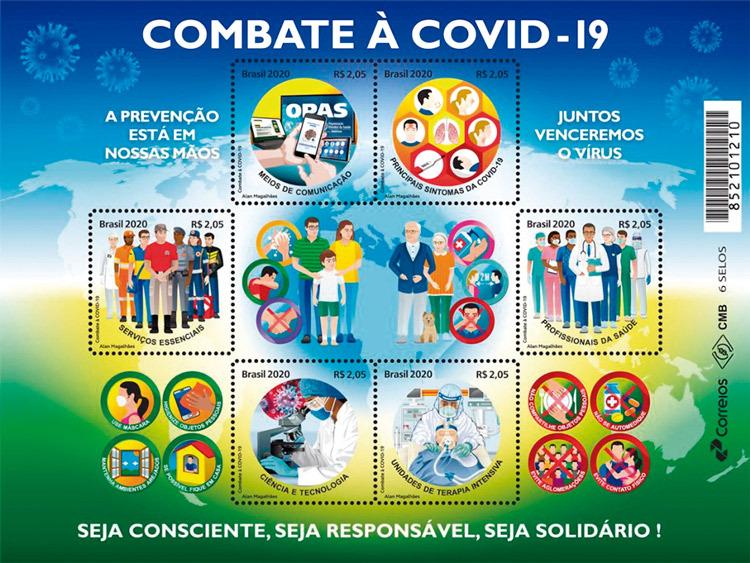 Selos postais e saúde pública juntos no combate à Covid-19
