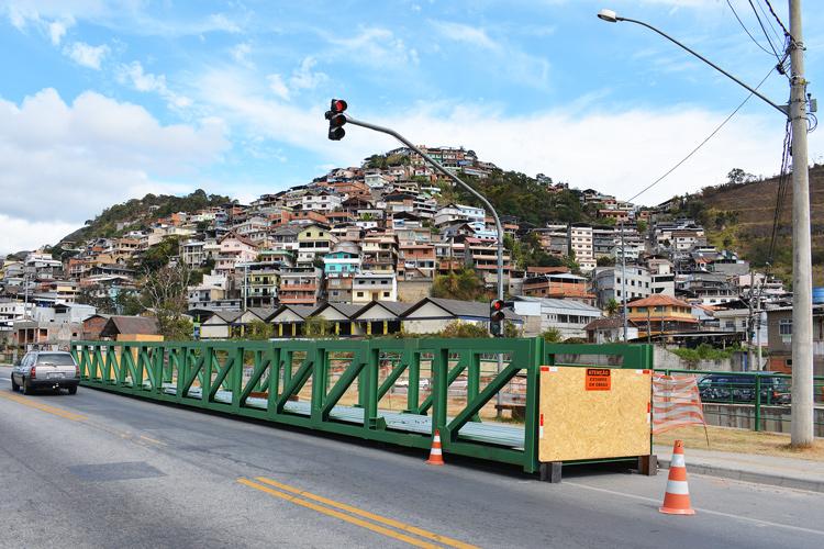A ponte metálica que será instalada (Arquivo AVS)