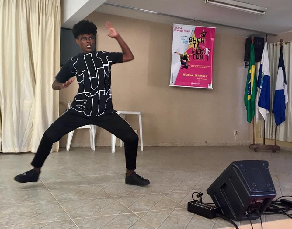 Wellington Bernardo Rosa venceu na categoria dança e vai agora para a semifinal, no Rio