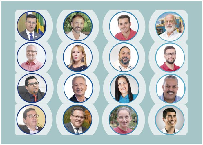 Os candidatos a prefeito (Infografia AVS)