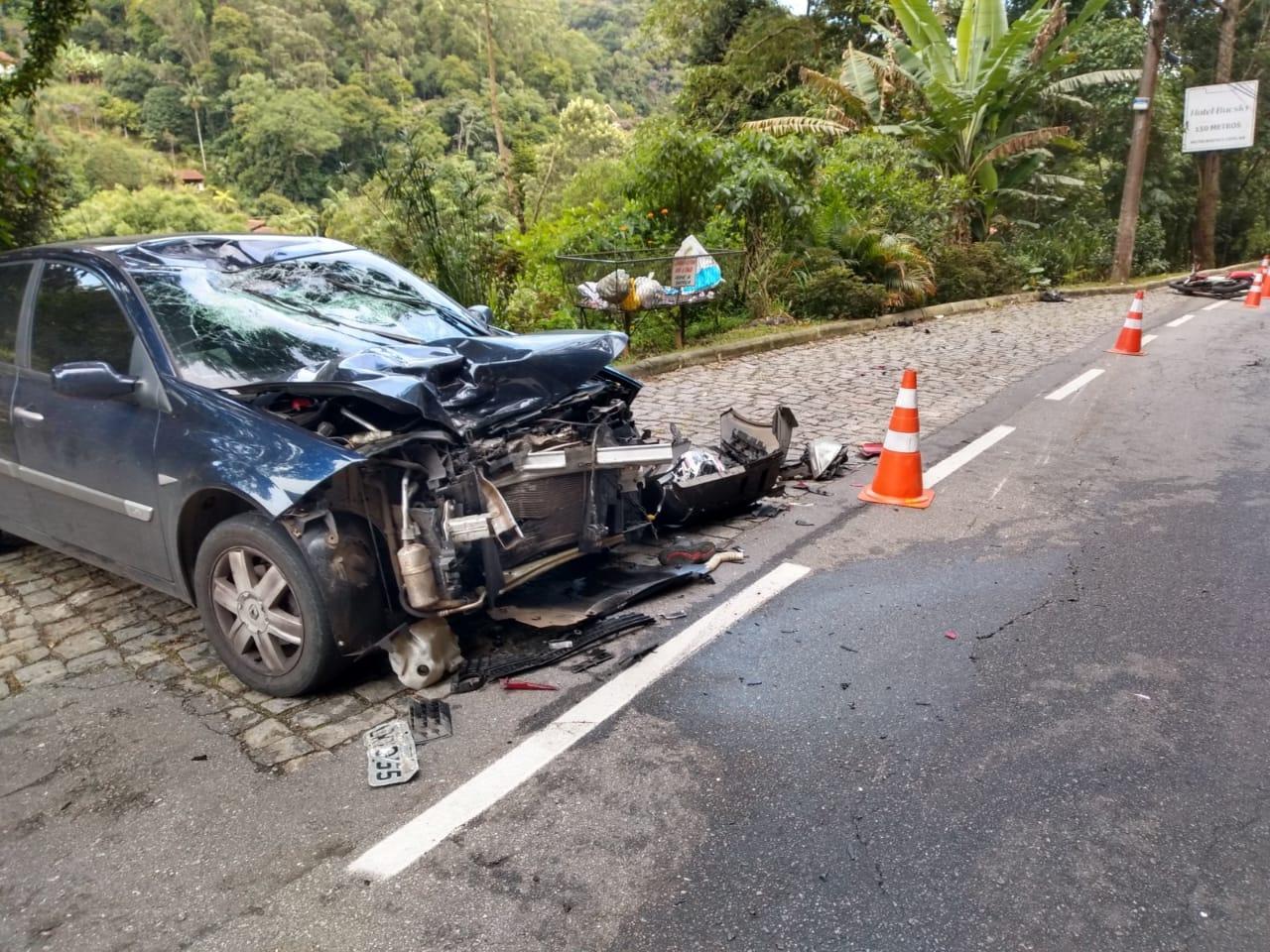 Friburgo tem manhã com dois acidentes envolvendo motos